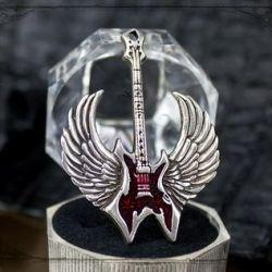 Pendant Guitar with jewelry enamel