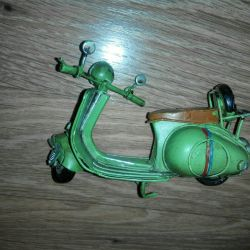Handmade metal scooter model