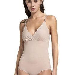 Body beige open back with straps size m