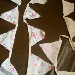 Новая гирлянда- растяжка из ткани