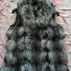 Жилет з чорнобурки + куртка