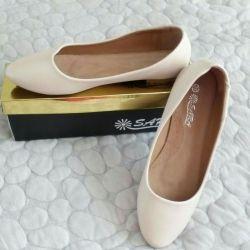Ballet flats gently beige, new - 300 rub