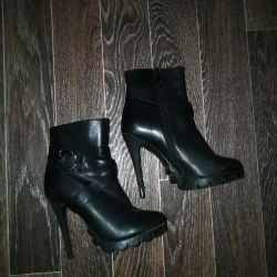 Shoe boots genuine leather of river 37-38