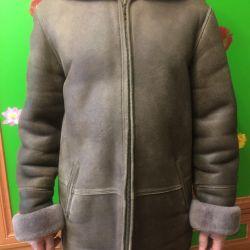 Sheepskin coat for men,
