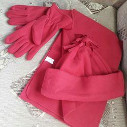 Şapka + eşarp + eldiven ayarlayın