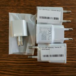 Power supply for Samsung and iPhone. Charging new!