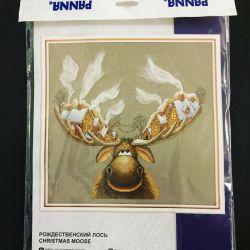 Cross stitch kit Christmas elk