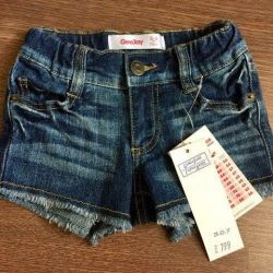 Denim shorts for a girl, new.