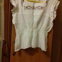 Λευκή μπλούζα από γάζα