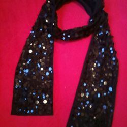 Shawl with paillettes for evening gown