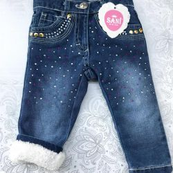 New winter jeans for girls 9 and 18 months old
