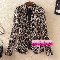 Пиджак леопард