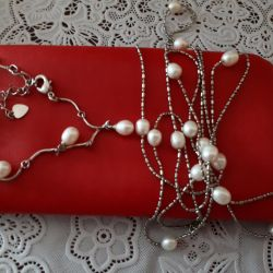 Pearl Chain and Bracelet