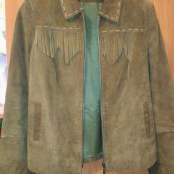 Doğal süet ceket