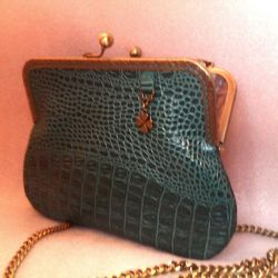 Bag leather emerald