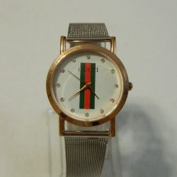 Gucci watch, metal strap