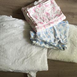 Pătură, pernă, lenjerie de pat
