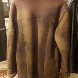 Ανδρικό παλτό από δέρμα προβάτου