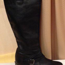 Boots FEMALE - autumn, black skin natures.