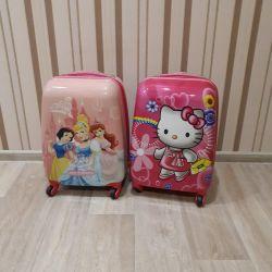 Нові дитячі двох сторонні валізки