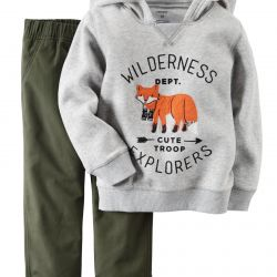 Carter's fleece hoodie and panties set