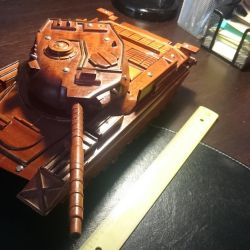 Toy or interior item Wooden tank 32cm