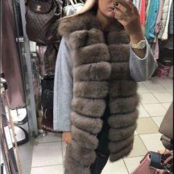 Coat with fur