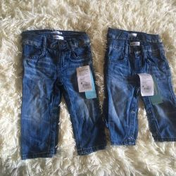Jeans pentru un băiat de 6-12 luni