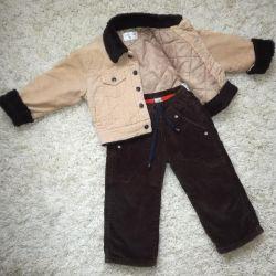 Sintepon ve pantolon sonbahar ceket
