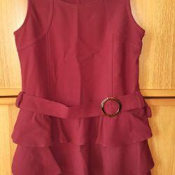 Yeni okul elbise bordo