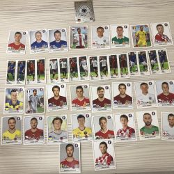 Stickers with football players