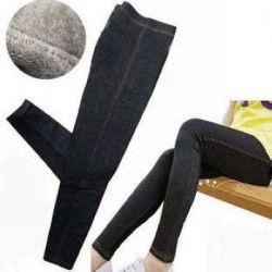 НОВЫЕ легинсы-джинсы с мехом внутри