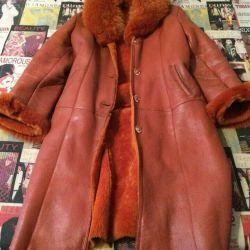 Güzel doğal koyun derisi ceket