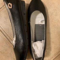 Kadınlar için bale ayakkabıları. Gerçek deri. 37,38,40