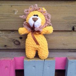 Knitted Plush Lion