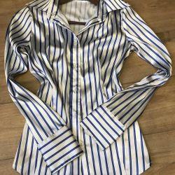 Классическая атласная рубашка 44