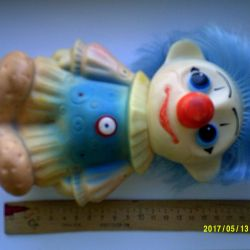 Toys Rubber clown.