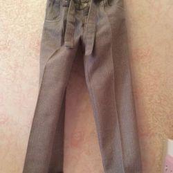 128r kızlar için okul pantolonları