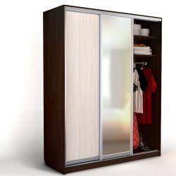 Συρόμενη ντουλάπα 3 θυρών ShK-4-3 με καθρέφτη από ξύλο βελανιδιάς \