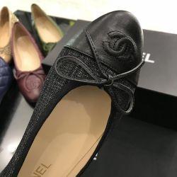 Balerinler Chanel siyah lüks