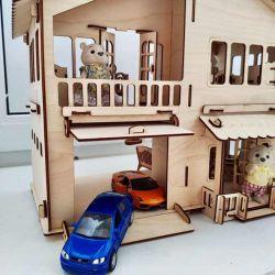 Унікальний будинок з гаражем для дівчаток і хлопчиків