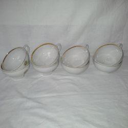 Cups fine bone china. Dulyovo, 8 pcs.
