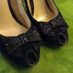 Туфли бархатные открытые  38 размер