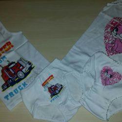T-shirt and panties 1,2,3,4,5,6 years