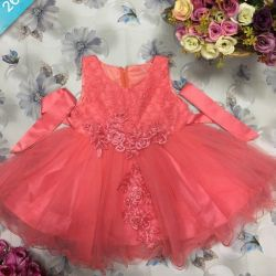 Festive dress for a small fashionista in stock