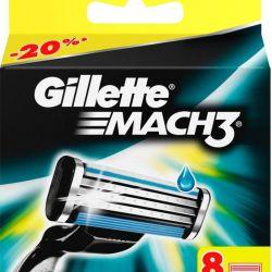 Blades Gillette Mach3 and Mach3 Turbo 4, 8 pcs