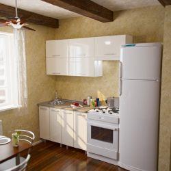 Κουζίνα Bella 180cm λευκή γυαλάδα