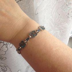 Blue Pebble Bracelet