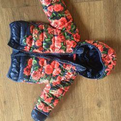 98 cm'lik nehrin kızındaki Demi-sezon ceketi