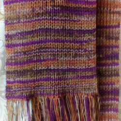 Winter shafr. Hand knitting.